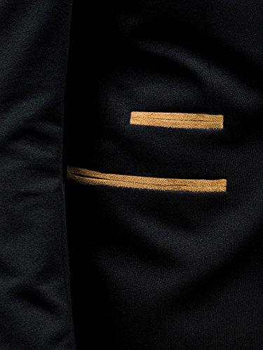 BOLF – Blazer – Bottoni – Moderno – Casual – Motivo – Uomo [4D4] Nero