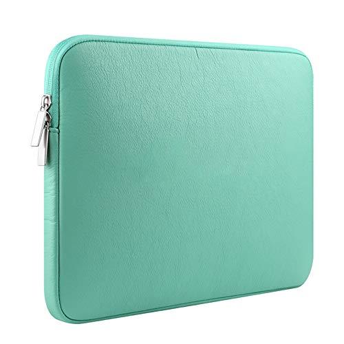 Microsoft Surface Pro 6 / Pro 5 / Pro 4 für Hülle, 12,3 Zoll PU-Leder Laptoptasche Tablet Aktentasche Schutzhülle Mit Fach, Mintgrün,Green - Fach-leder Tasche