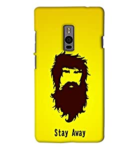 Go Yankee beared man Back Cover For One Plus Two