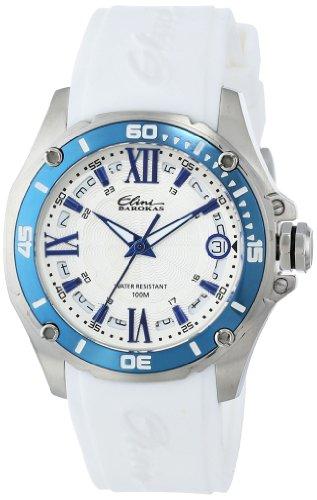 Elini Barokas Artisan 10197-023S-WHT 38mm Stainless Steel Case White Rubber Sapphire Crystal Women's Watch