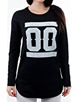24brands - Damen Longshirt / Langarmshirt / Longsleeve Swag mit Animal Print / Top / Oberteil - 2823