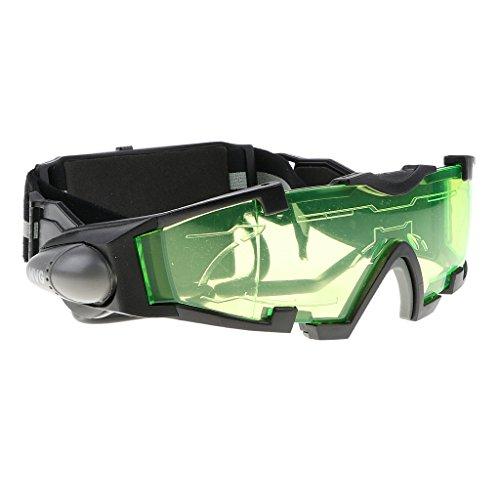 F Fityle Kinder Nachtversion Sicherheitsbrille Schutzbrille Mit LED Lampe Perfekt für Radfahren, Klettern, Reiten, usw.