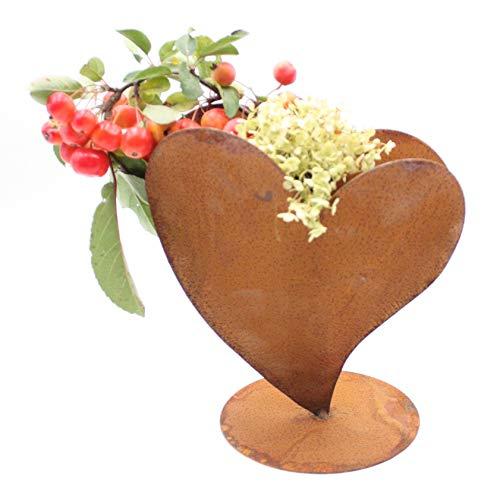 Rostikal   Dekoherz Rostherz zum bepflanzen Edelrost Metall Herz Gartendeko 23 cm