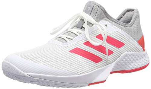 adidas Herren Adizero Club Tennisschuhe, Grau Light Granite/Shock Red/FTWR White, 44 2/3 EU