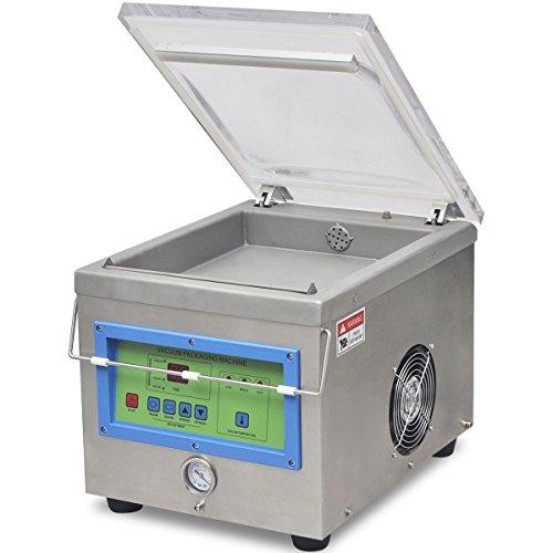 vidaXL Profi Vakuumierer Stand Vakuummaschine Vakuumgerät Vakuumiergerät Edelstahl 350W