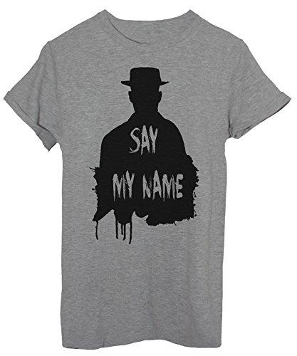 iMage T-Shirt Walter White Name - Fernsehserie Herren-M - Grau