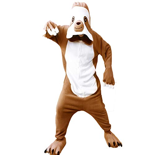 FORLADY Pyjamas für tierische Onesie Sloth Adult Pyjamas Unisex-Fleece-Rollenspiel-Kostüm