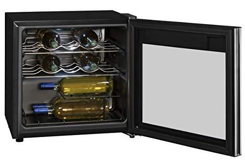 Exquisit WS 116-3 EA Weinkühlschrank / 2 Flascheroste verchromt/Temperaturbereich 5.18°C/Für 14x...