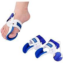 Hrph 1 par de juanetes dispositivo ortopédico Hallux Valgus apoyos del dedo del pie Corrección Noche cuidado de los pies Corrector Pulgar hueso grande Ortesis