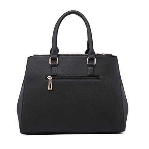 Miss Lulu, Borsa a spalla donna 6633 Black