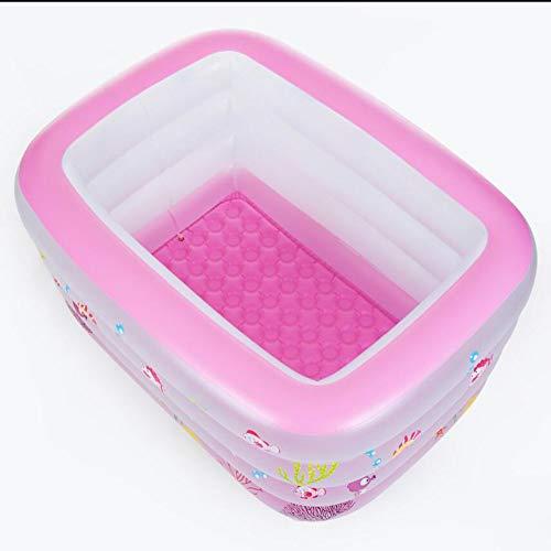 TINGTINGDIAN Baby Swimming Pool \ Haushalt Kunststoff Neugeborenen Baby Kind Kind Schwimmen Eimer \ Falten Halterung Isolierung Bad Eimer Rosa
