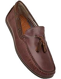Venturini Mens Leather Slip On Moccasins - B0788SLQVC