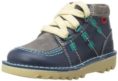 Kickers Boys Kick Ghill Boots 112655 Dark Blue/Grey 5 UK Child, 22 EU