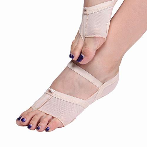 Socken, Ballet Schuhe (YCYEER Ballett Leinwand Tanzschuhe Gymnastic Yoga Schuhe Flat Split Sole Mädchen Damen (Farbe : Skin Tone, größe : S))