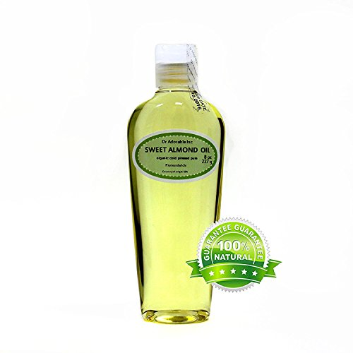 Organic Pure Carrier Oils Cold Pressed 8 oz (Sweet Almond Oil)