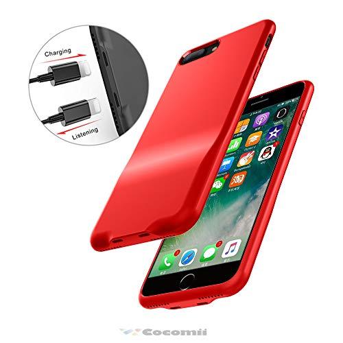 Cocomii Duo Lightning Audio Armor iPhone 8 Plus/7 Plus Hülle NEU [Dual Lightning Jack Adapter Hülle] Anruf+Audio+Ladegerät Laden Und Musik Hören Case Schutzhülle for iPhone 8 Plus/7 Plus (Duo.Red) Duo Shield Armor Case