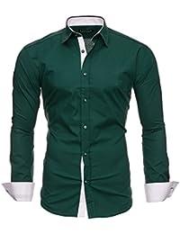 KAYHAN Herren Hemd Slim Fit, Super Modern super Qualität K-2Face
