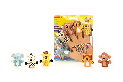 toi-toys–5piezas marionetas de dedos Animales Figura, 37262a, multicolor