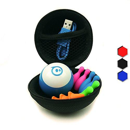 Hexnub Sphero Mini Zubehör Schutzhülle & Schutztasche Case Tasche & Reise-Etui für ferngesteuerten Spielzeug Roboter Ball - ideal für Reisen und unterwegs - Schwarz
