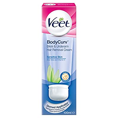 Veet Hair Removal Cream Sensitive Skin Bikini and Underarm - 100 ml by Reckitt Benckiser
