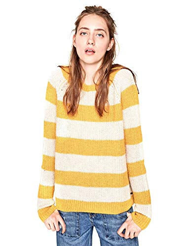 Pepe Jeans Damen Pullover Suna, Gelb (Siena 089), Medium