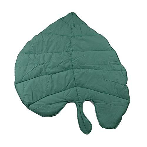 Babyteppich Kriechende Matte Spielmatte, Blattform Weiche Baumwollmatte 95 X 85 X 1.5 cm, Wohnzimmer Schlafzimmer Dekoration(Green) (Baby Und Kind Green Turtle Kostüm)