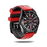 Xwly-sw Smart Watch Support Independent SIM Card Fitness Tracker mit Herzfrequenz-Blutdruck-Monitoring-Tomo Sleep Monitoring Bluetooth 4.0 für Männer und Frauen,Red