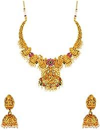 Voylla Jewellery Set for Women (Golden) (8907617899947)