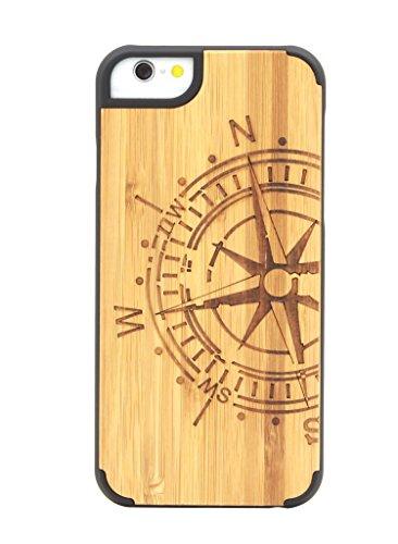 """eimo Apple iPhone 6 Plus 5.5"""" Original Cover Case bois avec bords noirs et d'absorption des chocs Couche pour iPhone 6 Plus 5.5 pouces-23 21"""