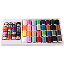Juego de 60 bobinas de metal y bobina de hilo para máquina de coser mini