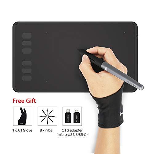 HUION INSPIROY H640P 8192 Drucksensitivität Grafiktablett mit batterielosem Stift und 6 anpassbaren Funktionstasten