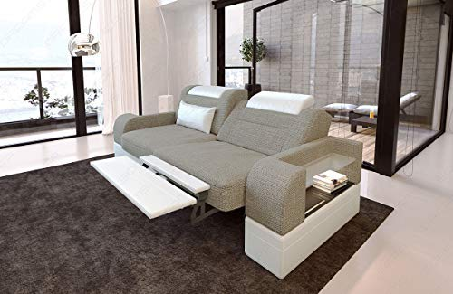 Sofa Dreams Zweisitzer Polstersofa Parma mit Relaxfunktion und LED Beleuchtung