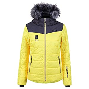 Icepeak Viroqua Damen Ski Winterjacke gelb grau