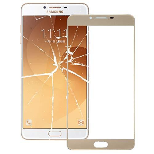 AUSSENGLASOBJEKTIV Cellphone ERSATZTEILE XZS Frontglas-Außenglaslinse für Galaxy C9 Pro / C900 (Schwarz) (Farbe : Gold) -