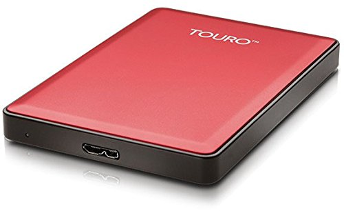 HGST Touro S 500GB Red External Hard Drive HDD USB 3.0 6,4cm 2,5Zoll RETAIL extern HTOSEC5001BCB