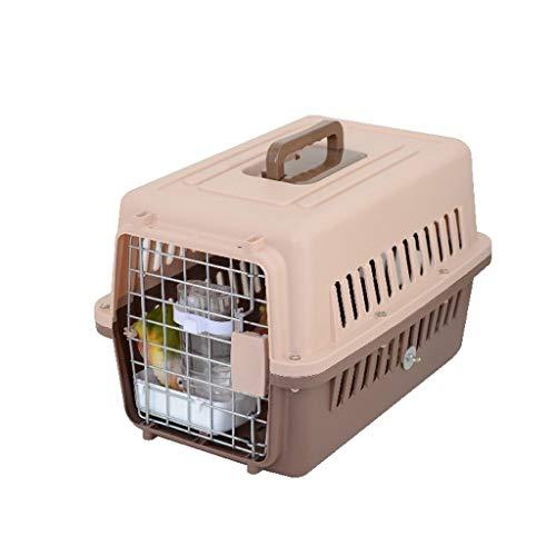 DUOER home- Jaulas para pájaros Inicio Portador de Animales Jaula de Animales Plástico Portátil Caja de Transporte Jaula Grande Cerradura de Resorte Puerta