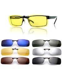 Gafas de sol polarizadas de clip, UV400,para conducción, aire libre, antirreflejos, para hombre y mujer, de Cosprof