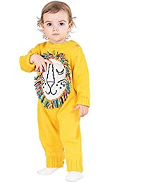 FJY Baby Wolle Overall Herbst Winter Lange Sleeve Pullover Gestrickte Crawling Kleidung