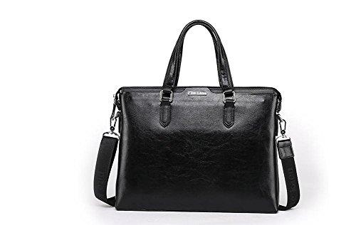 GBT Die neue Geschäfts-und Freizeit-Leder-Handtasche für Männer Black