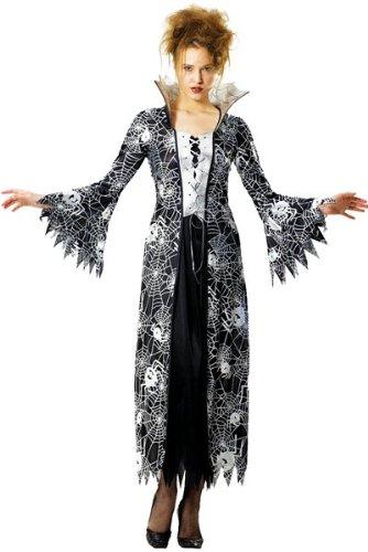 Foxxeo 10237 | Spinnenkostüm Halloween Hexen Kostüm für Damen, Größe:XL