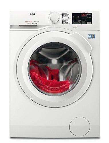 AEG L6FB50480 Waschmaschine Frontlader / freistehender Waschautomat mit 8 kg ProTex Schontrommel und...