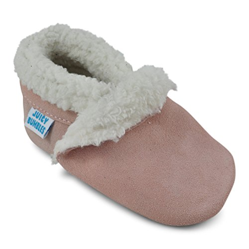 Juicy Bumbles Beautiful Soft Suede Baby Shoes / Slippers with Soft Soles