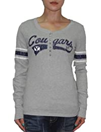 NCAA Femmes Brigham Young Cougars Athletic Pull à manches longues T-shirt - gris