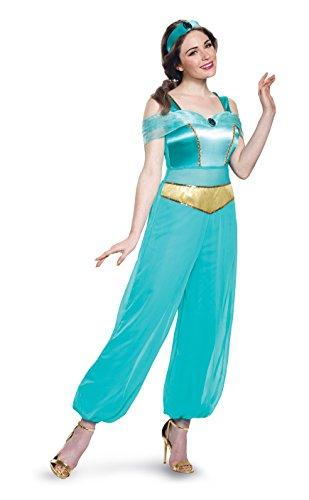 Jasmine Kostüm Deluxe - Disguise Women's Jasmine Deluxe Fancy Dress Costume Small