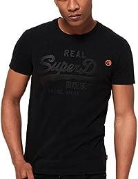 Superdry Real Logo 1st Crew Neck T-Shirt Black - Various Sizes