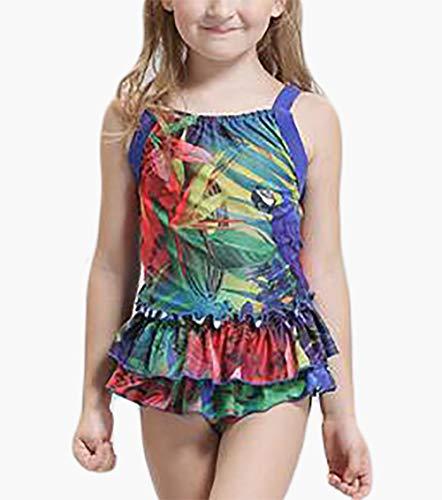 RENMEN Badeanzug, professionelle Mädchen Mode Rock Stück Papagei Badeanzug, 2XL