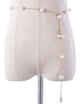 Moda,Rhinestone,Moldeado,Salvajes,Vestido,Cinturón/Cadena De La Cintura Perla Metal