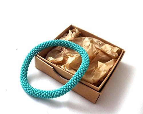Türkis Gehäkelte Perlen Armband glasperlen rolle armband -