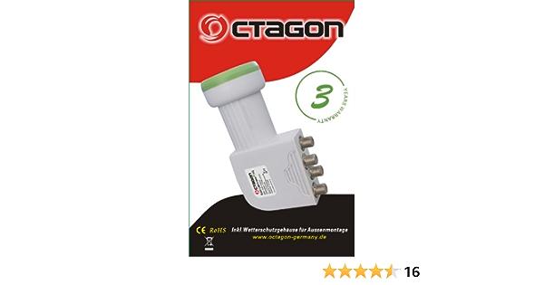 Octagon 0 1db Quad High Gain Hd Ready Universal Lnb Elektronik