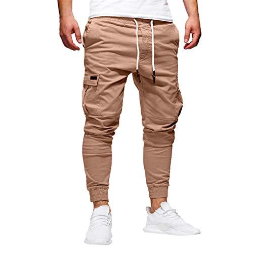 Skxinn Jogginghose/Herren Sporthose Fitness Slim Fit Hose Freizeithose Sweathose Jogger Streetwear Sweat Pants Casual Sport Trainingshose Angebote (XXX-Large, Z4-Khaki)